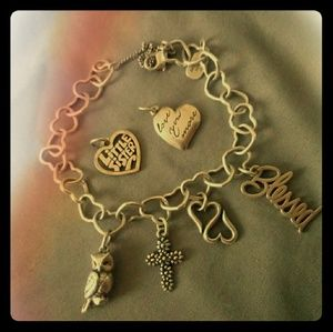 James Avery Charms Bracelet With 4 Charms